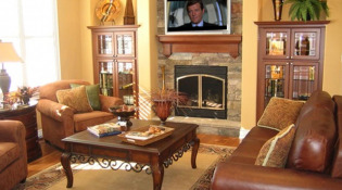 Benedict Canyon Fireplace and Media Room