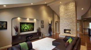 Contemporary Media Room